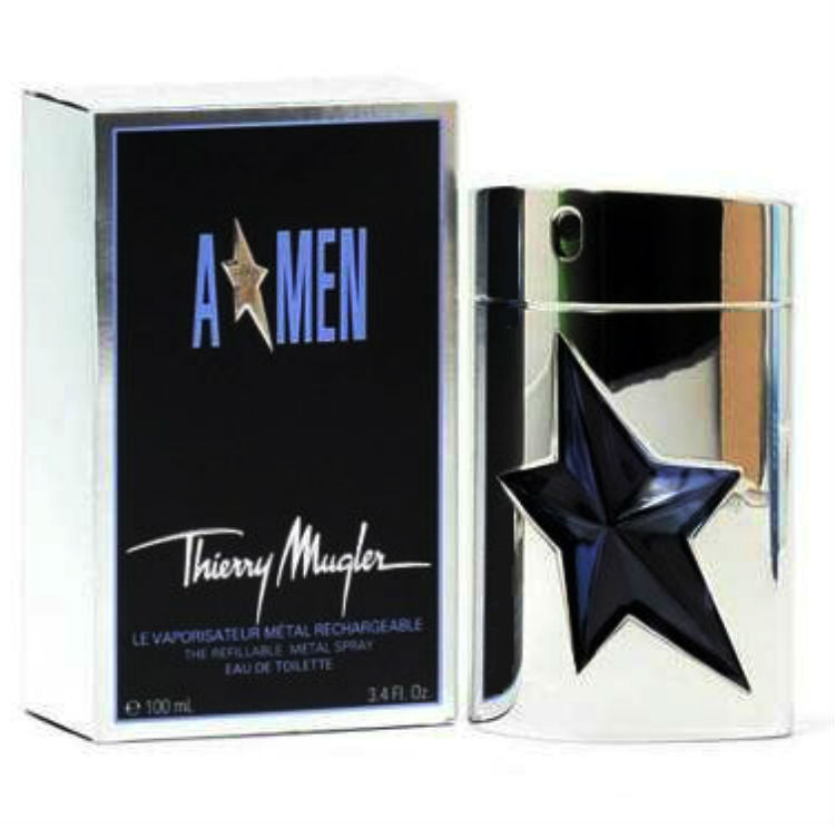 A * MEN Angel for Men by Thierry Mugler Metal for Men EDT Refillable Spray 3.4 oz