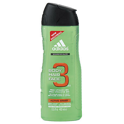 Adidas Active Start for Men Hair & Body Wash / Shower Gel 8.4 oz - Cosmic-Perfume