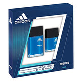 Adidas Moves Him for Men by Adidas EDT Spray 1.0 oz + EDT 0.5 oz Spray 2 pc Gift Set - Discount Fragrance at Cosmic-Perfume