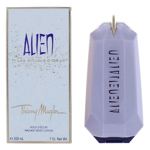ALIEN for Women by Thierry Mugler Les Rituels D'Or Radiant Body Lotion 7.0 oz / 200 ml - Discount Bath & Body at Cosmic-Perfume