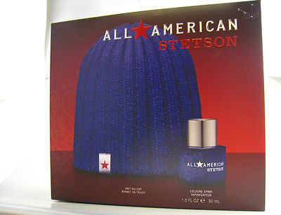 Stetson All American for Men by Coty Cologne Spray 1.0 oz & Ski Cap - GIFT SET - Cosmic-Perfume