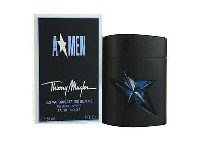 A * MEN Angel Men by Thierry Mugler EDT Spray Rubber 1.0 oz - Discount Fragrance at Cosmic-Perfume