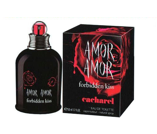 Amor Amor Forbidden Kiss for Women by Cacharel EDT Spray 1.7 oz - Discount Fragrance at Cosmic-Perfume
