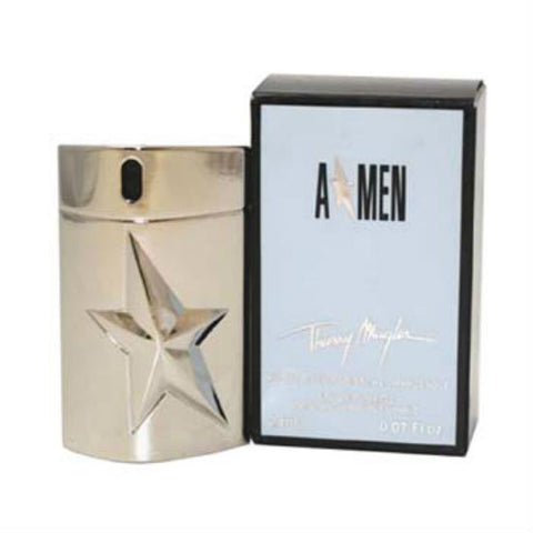A * MEN Metal Angel Thierry Mugler EDT Rechargeable Spray Miniature 0.07 oz - Cosmic-Perfume