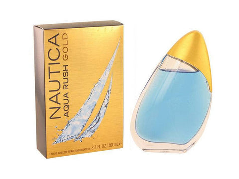 Nautica Aqua Rush Gold for Men by Nautica EDT Spray 3.4 oz - Discount Fragrance at Cosmic-Perfume