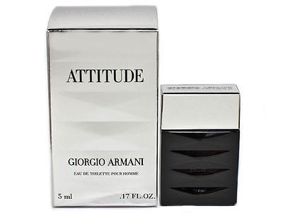 Armani Attitude for Men by Giorgio Armani EDT Miniature Splash 0.17 oz - Cosmic-Perfume