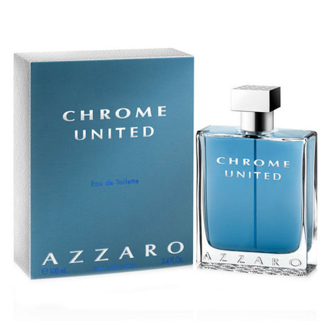 Chrome United for Men by Azzaro Eau de Toilette Spray 3.4 oz - Discount Fragrance at Cosmic-Perfume