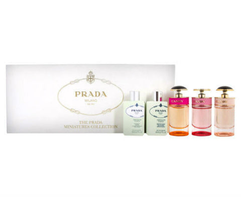 Prada for Women Assorted Fragrance Miniature Collection 5 pc Set - Discount Fragrance at Cosmic-Perfume