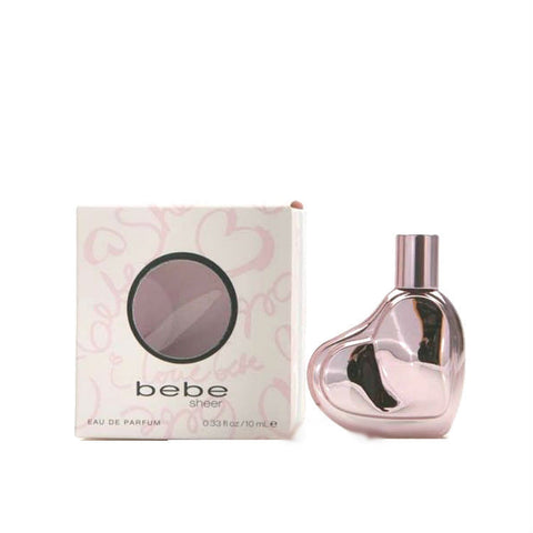Bebe SHEER Edition for Women By Bebe EDP Splash Miniature 0.33 oz - Discount Fragrance at Cosmic-Perfume