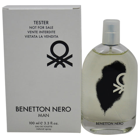 Benetton Nero Man for Men by Benetton EDT Spray 3.3 oz  (Tester) - Discount Fragrance at Cosmic-Perfume