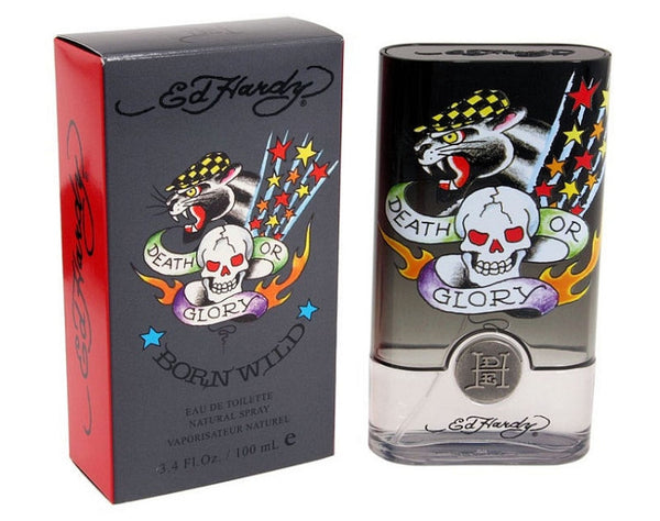 Ed Hardy Born Wild for Men by Christian Audigier EDT Spray 3.4 oz - Discount Fragrance at Cosmic-Perfume