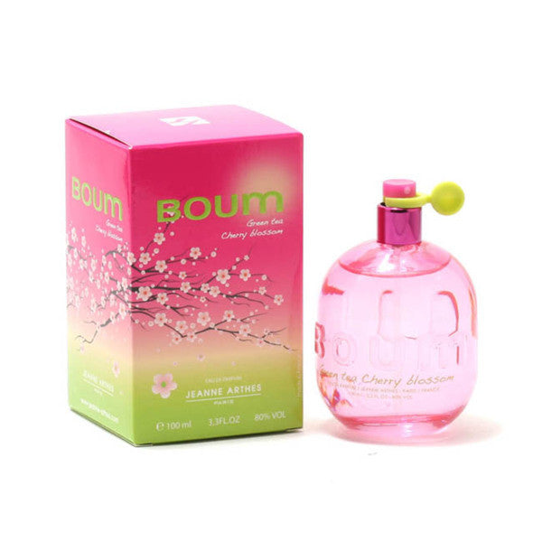 BOUM GREEN TEA CHERRY BLOSSOM for Women by Jeanne Arthes EDP Spray 3.3 oz - Cosmic-Perfume