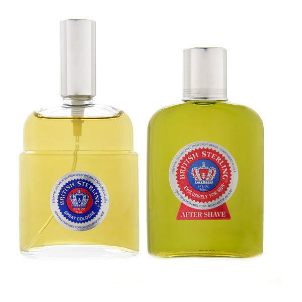 British Sterling Men by Dana Cologne Spray 2.5 oz + After Shave Splash 2.0 oz - Gift Set - Discount Fragrance at Cosmic-Perfume