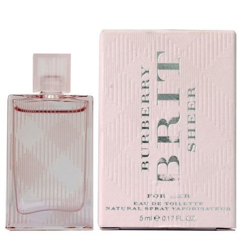 Burberry Brit Sheer for Women EDT Splash Miniature 0.17 oz - Discount Fragrance at Cosmic-Perfume