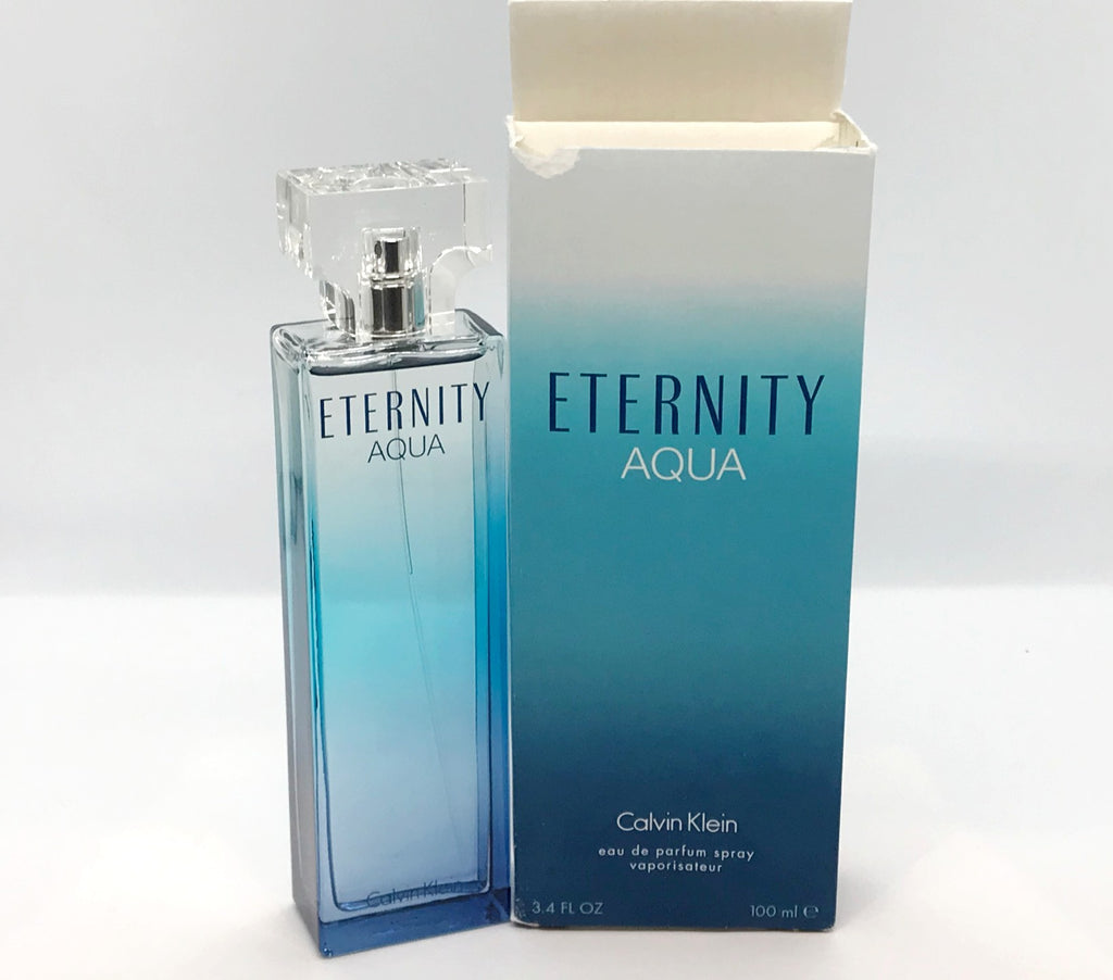 Eternity Aqua for Women by Calvin Klein Eau de Parfum Spray  3.4 oz *Open  Box