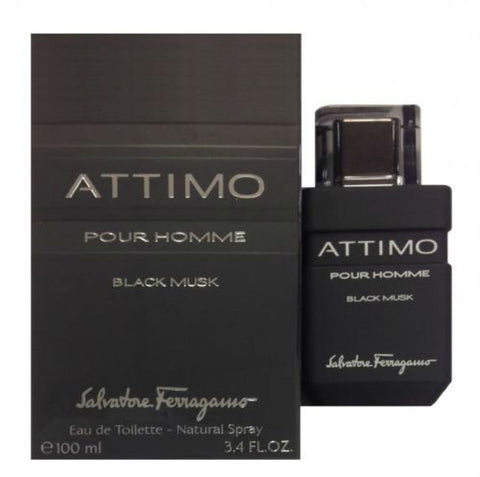Attimo Black Musk Pour Homme by Salvatore Ferragamo EDT Spray 3.4 oz