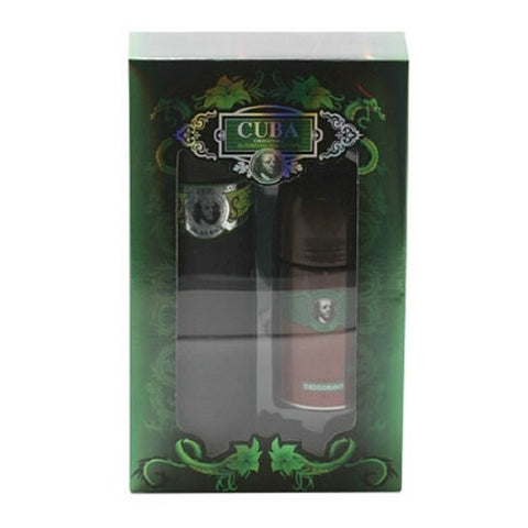 CUBA GREEN for Men EDT Spray 3.4 oz + Deodorant Roll On 1.7 oz ~ GIFT SET - Cosmic-Perfume
