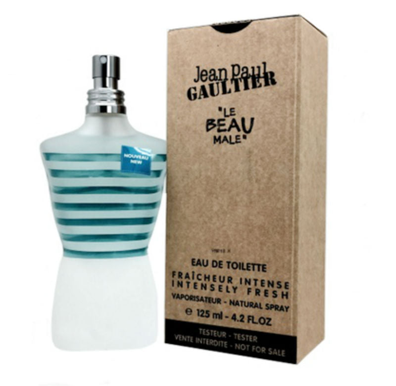 LE BEAU MALE Jean Paul Gaultier Intensely Fresh EDT Spray 4.2 oz (Tester) - Cosmic-Perfume