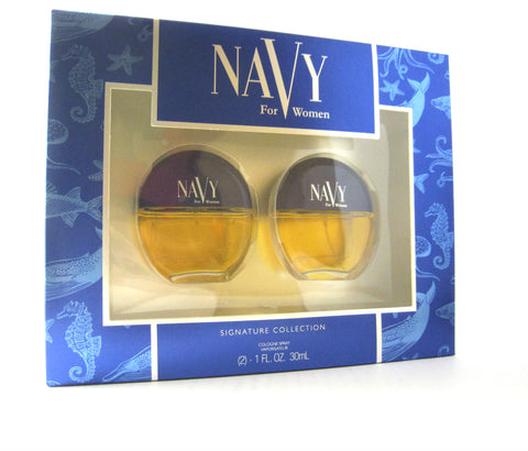 Navy for Women by Dana Cologne Spray 1.0 oz x 2pcs Set - Discount Fragrance at Cosmic-Perfume
