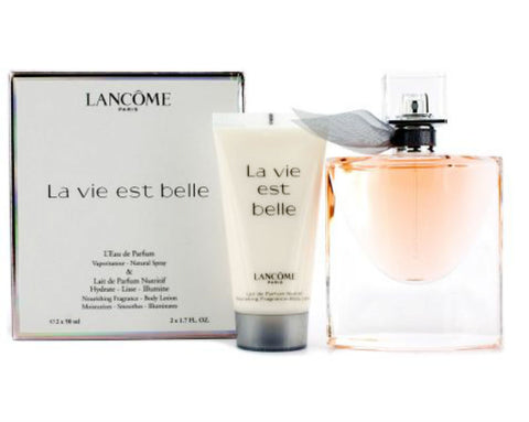 La Vie Est Belle Women Lancome L'Eau de Parfum Spray 1.7 oz + Lotion Gift Set - Cosmic-Perfume