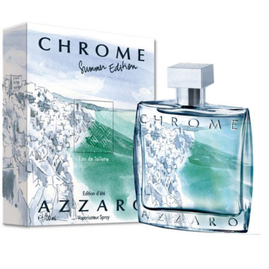 Azzaro Chrome Summer Edition 2013 for Men by Azzaro EDT Spray 3.4 oz - Cosmic-Perfume