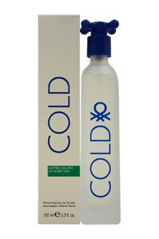 Cold for Men (New Packaging) by Benetton EDT Spray 3.3 oz - Cosmic-Perfume