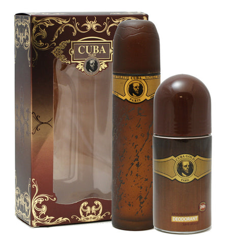Cuba Gold for Men by Cuba Paris 2 pc Gift Set - Cosmic-Perfume