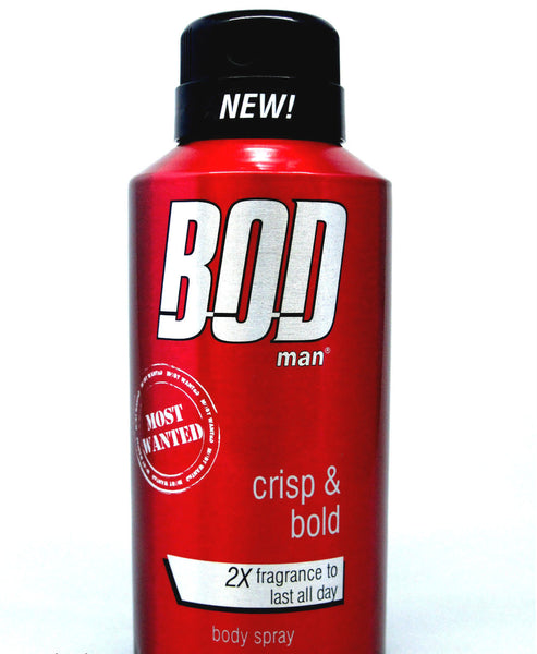 Bod Man Most Wanted for Men Body Spray for Men 4 oz - Discount Fragrance at Cosmic-Perfume
