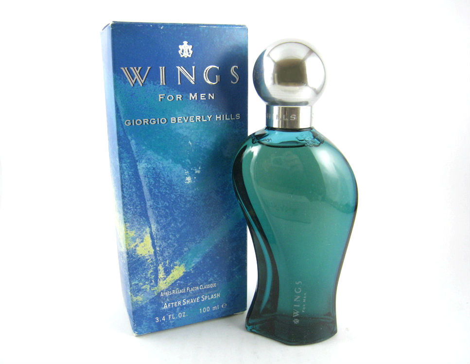 Wings for Men by Giorgio Beverly Hills After Shave Splash 3.4 oz *Worn Box