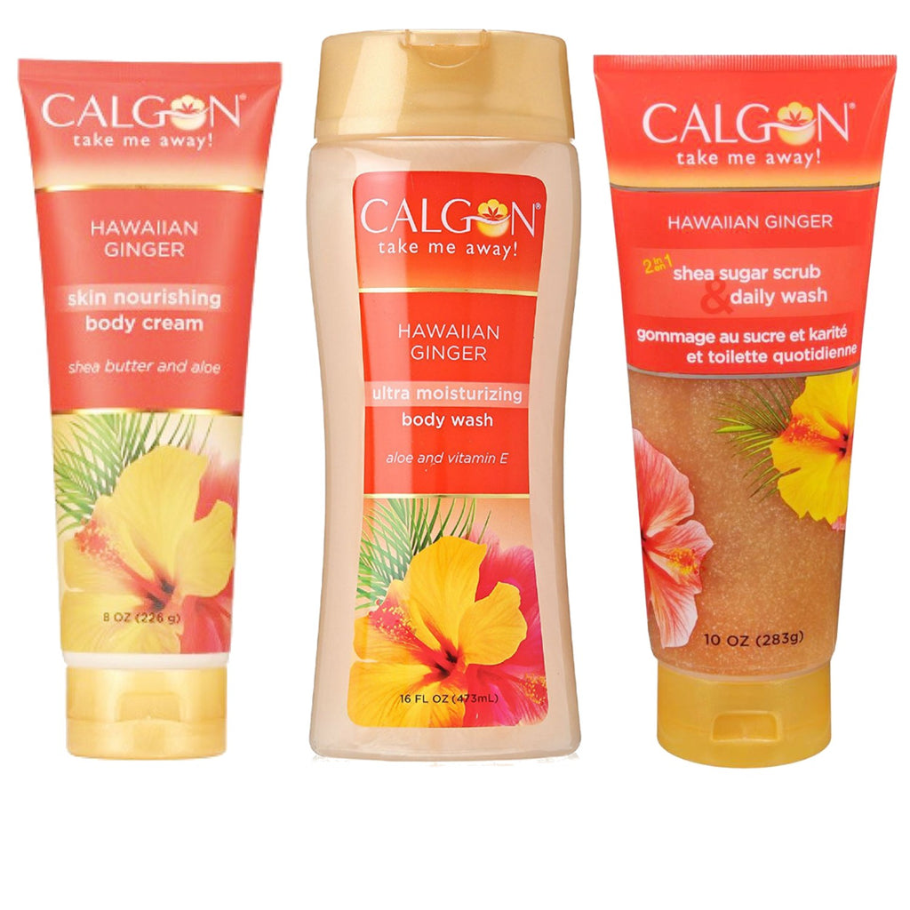 Hawaiian Ginger for Women by Calgon Bath & Body 3pc Set