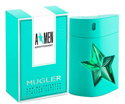 A * MEN KRYPTOMINT Angel Thierry Mugler Eau de Toilette Spray 3.4 oz - Cosmic-Perfume