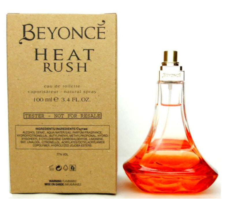BEYONCE HEAT RUSH for Women Eau de Toilette Spray 3.4 oz (Tester)