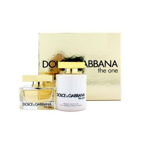 D & G The One for Women by Dolce & Gabbana 2 pc Gift Set: EDP Spray 1.6 oz  + Creamy Bath Milk 6.7 oz - Discount Fragrance at Cosmic-Perfume