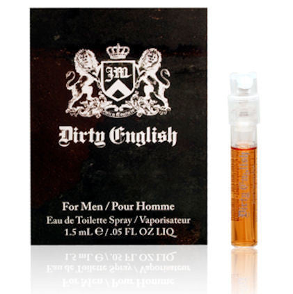 Dirty English for Men by Juicy Couture EDT Spray Vial 0.05 oz - Discount Fragrance at Cosmic-Perfume