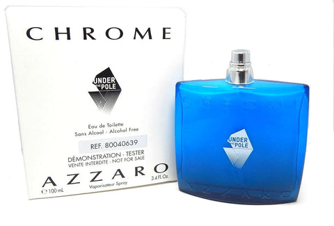 Azzaro Chrome Under The Pole for Men  Alcohol Free EDT Spray 3.4 oz  (Tester) - Cosmic-Perfume