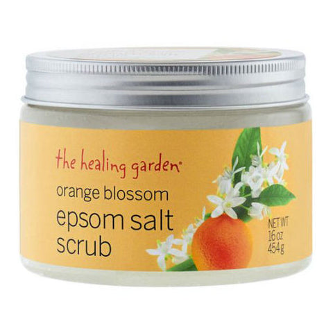 The Healing Garden for Women Orange Blossom Epsom Salt Body Scrub 16.0 oz - Discount Bath & Body at Cosmic-Perfume