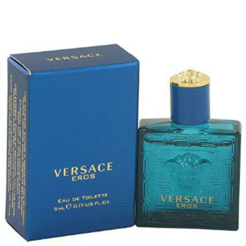 Versace Eros for Men by Versace EDT Splash Miniature 0.17 oz - Discount Fragrance at Cosmic-Perfume