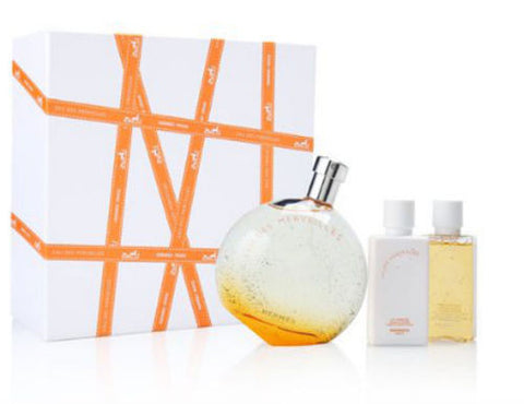 Eau Des Merveilles for Women by Hermes EDT Spray 3.3 oz + Lotion + Gel - SET - Discount Fragrance at Cosmic-Perfume
