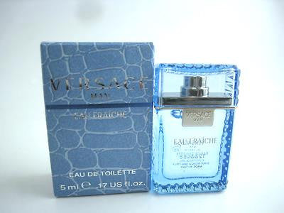 Versace Man Eau Fraiche for Men by Versace EDT Splash Miniature 0.17 oz (New in Box) - Cosmic-Perfume