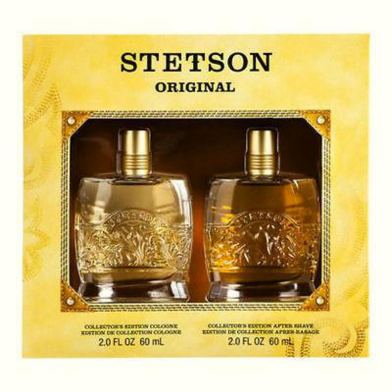 Stetson Original for Men by Coty Collector's Edition Cologne Splash 2.0 oz & After Shave 2.0 oz Gift Set