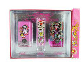 Ed Hardy Perfume Variety for Women by Christian Audigier EDP 1.0 Spray - 3 pc Gift Set - Cosmic-Perfume