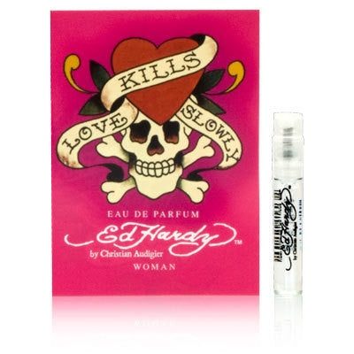 Ed Hardy Love Kills Slowly for Women by Christian Audigier EDP Vial Spray 0.05 oz - Cosmic-Perfume