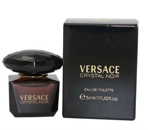 CRYSTAL NOIR for Women by Versace EDT Miniature Splash 0.17 oz - Cosmic-Perfume