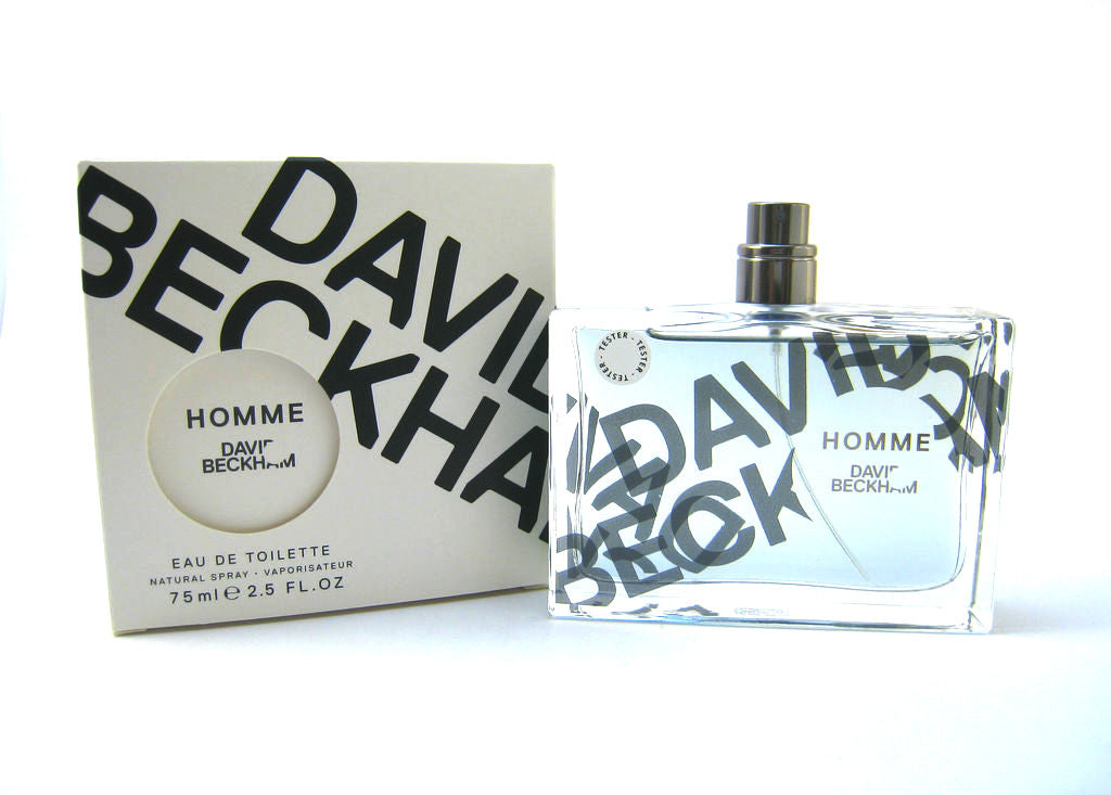 Beckham Homme for Men by David Beckham EDT Spray 2.5 oz (Tester) - Cosmic-Perfume