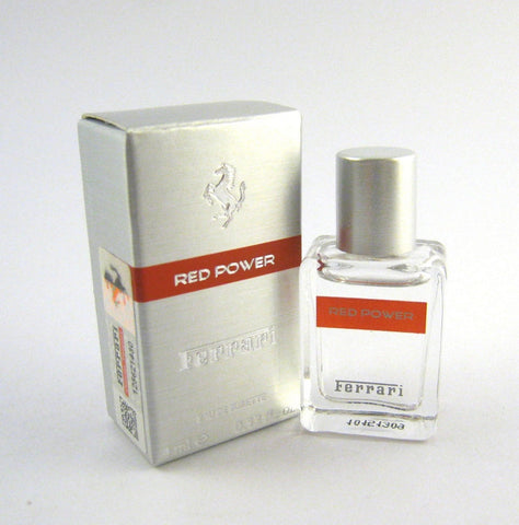 FERRARI RED POWER for Men by Ferrari EDT Splash Miniature 0.13 oz (New in Box) - Cosmic-Perfume