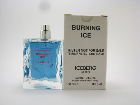 Iceberg Burning Ice for Men by Iceberg EDT Spray 3.3 oz (Tester) - Discount Fragrance at Cosmic-Perfume
