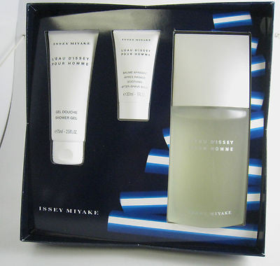 L'EAU D'ISSEY for Men Issey Miyake EDT Spray 4.2 oz + Balm + Gel - GIFT SET - Discount Fragrance at Cosmic-Perfume
