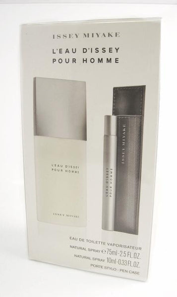 L'EAU D'ISSEY for MEN Issey Miyake EDT Spray 2.5 oz + 0.33 oz Spray - Gift Set - Discount Fragrance at Cosmic-Perfume