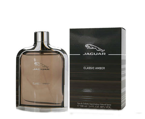 Jaguar Classic Amber for Men EDT Spray 3.4 oz - Discount Fragrance at Cosmic-Perfume