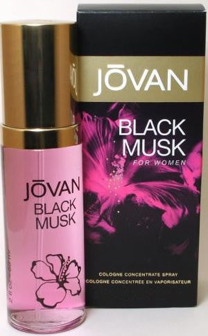 Jovan Black Musk for Women by Coty Cologne Concentrate Spray 3.25 oz - Discount Fragrance at Cosmic-Perfume